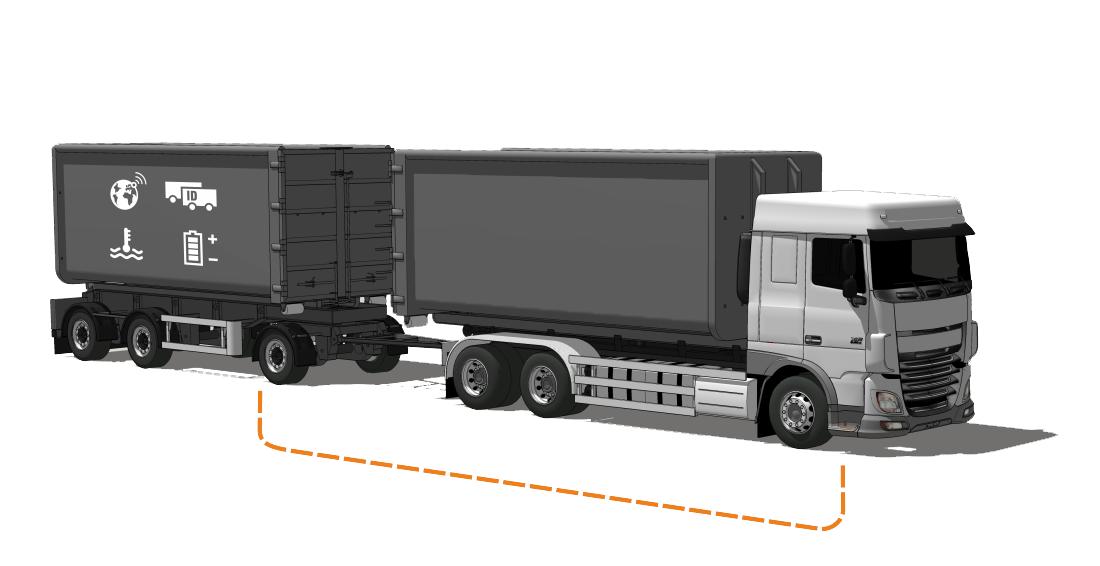Truck and trailer PLC scheme